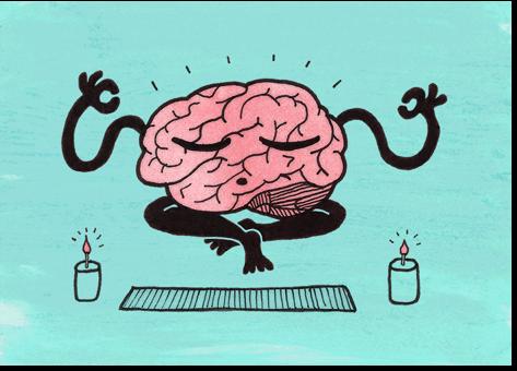 brain meditates